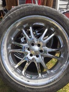 Set of Boss rims and tires