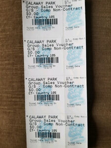 2 Calaway Park Single Day Admission Tickets For Sale