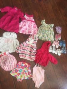 3-12 month girls,dresses,sweaters ,shoes ,swim suits