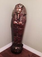 Egyptian cd stand made out of  solid wood