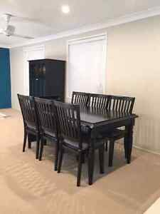 Black dining table and chairs Loftus Sutherland Area Preview