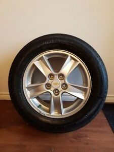 5 Bolt Alloy Rims and Tires