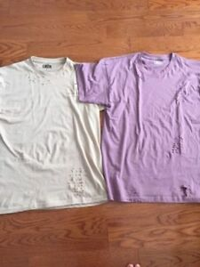 LMDN authentic distressed t shirt size Large Justin bieber hoody