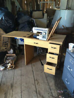 Desk with Built in Kenmore Sewing machine