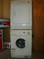 frontload digital Samsung apartment size washer dryer