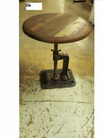 table d'appoint hauteur ajustable side table adjustable height