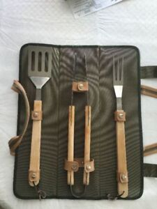 BARBEQUE ACCESSORY SET WITH CASE - LIKE NEW!