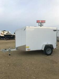 5ft x 8ft Flat Top Lightning Enclosed Trailer (LTF5x8SA)