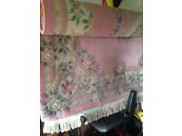Beautify antique style pink rug cost over £1000 new!!