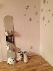 Snow bottes et casque