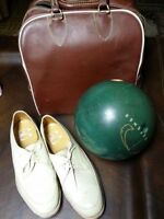 Bowling Ball, Bowling Shoes and Carrier