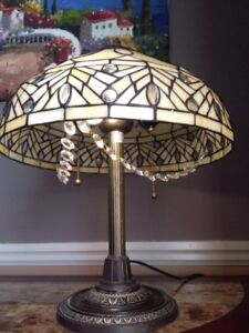 Antique Tiffany Stained Glass Lamp Stunning! .