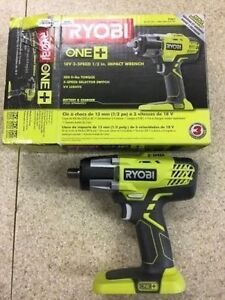 Ryobi 18V ONE+™ 3-Speed Impact Wrench (Tool Only) Windsor Region Ontario image 1