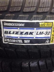 4 Brand New Bridgestone Blizzak LM-32 225/50R17 Winter Tires. $70 MAIL IN REBATE!! *** WallToWallTires.com ***