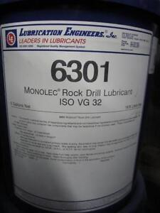 LUBRICATION ENGINEERS 6301 MONOLEC ROCK DRILL LUBRICANT 1 PAIL