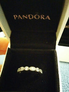 "Authentic Pandora "" Alluring Brilliant "" Sterling Silver Ring Windsor Region Ontario image 2"