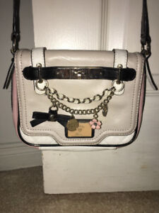 Guess Crossbody Floral Pink Beige White Purse Bag