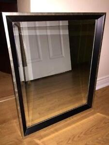 New Black / Silver Frame Mirror - + Other Items