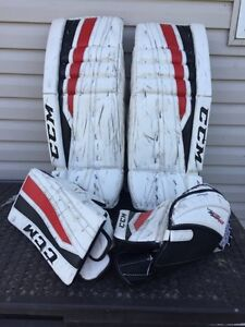 CCM hockey pads, chest protector and Bauer goalie pants