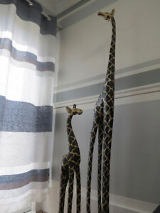 6ft & 3ft African Style Giraffe Carvings Can Deliver Cambridge Kitchener Area image 4
