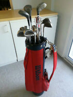 Reduced Wilson golf clubs and bag Good Starter set used 3xs