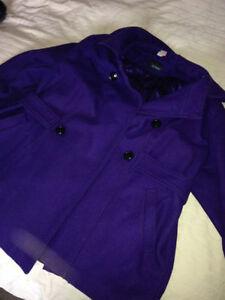 Dark Purple Penningtons Coat 1X Used as a Maternity Coat London Ontario image 4