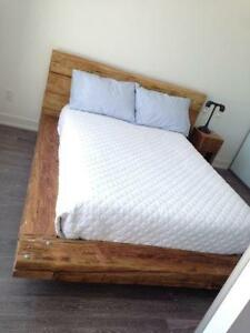 Beautiful Rustic Barn Wood Beam Bed - Double, Queen or King