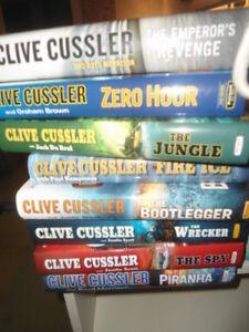 15 Clive Cussler hardcover novels for $15