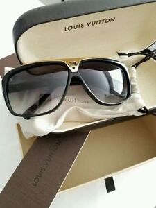 Brand New Louis Vuitton Evidence Sunglasses Black and Gold