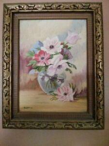 Original oil painting Toile d artiste w.oyer 1936  superbe
