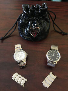 TWO SILVER GUESS WATCHES FOR $120.00