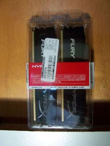 DDR3-1600 HYPER X Fury 2x4GB desktop memory RAM