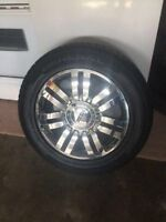 """20"""" 6-135MM RIMS/TPMS/LUGNUTS AND 275/55R20 GENERAL GRABBERS"""