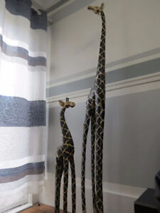 6ft & 3ft African Style Giraffe Carvings Can Deliver Cambridge Kitchener Area image 1