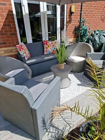 Grey rattan Garden furniture set please note not selling separately!