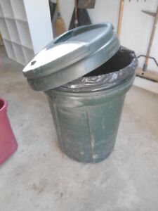 20-gallon Rubbermaid garbage can - $5