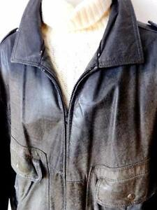 Canada HIDE HOUSE MENS AVIATOR JACKET XL 46 48 Distress Leather