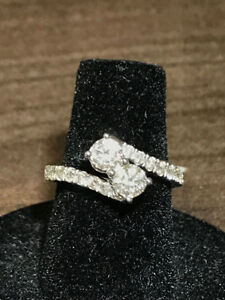 EVER US 1.00TCW 2 STONE DIAMOND RING NEW ON SALE !!!!!!!