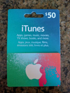 iTunes - $50 - Trade / Swap / Sell for $40