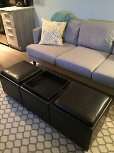 Ottoman with storage and coffee table