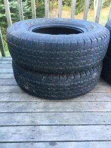 Two P235/75R15 Tires