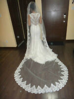 cathedral lace veil-voile cathedral marriage