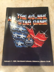 40th NHL All Star Game Program Feb 7, 1989, Northlands Coliseum