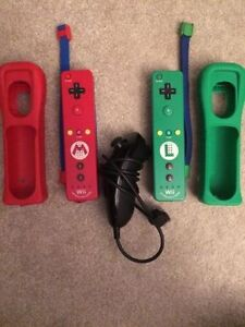 2 brand new wii remote plus controllers + 1 nunchuck