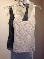 ARITZIA TALULA LACE TANK TOPS - FIT SIZES XS-SMALL - 2 FOR $20