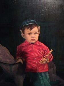 Painting Little boy and rocking horse Peterborough Peterborough Area image 2