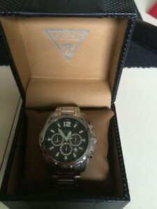 SELLING GUESS STEEL WATCH***MINT COND***