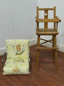 Chaise Haute/Siège D'appoint Vintage High Chair/Booster Seat