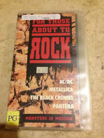 For Those About to Rock (RARE MUSIC CONCERT VHS)