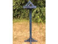Blue Wooden Bird Box